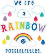 We Are a Rainbow of Possibilities Bulletin Board Set Product Image