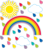 Giant Rainbow Bulletin Board Set Product Image