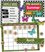 Woodland Whimsy Calendar Bulletin Board Set Product Image
