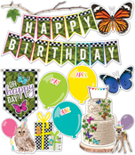 Woodland Whimsy Birthday Mini Bulletin Board Set Product Image