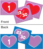 Hearts Calendar Cover-up Cut-Outs Product Image