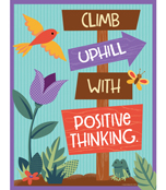 Climb Uphill with Positive Thinking Printable Chart Product Image