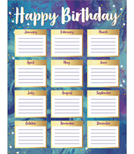 Galaxy Birthday Chart Product Image
