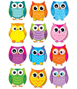 Colorful Owls Cut-Outs Product Image