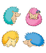 Happy Hedgehogs Cut-Outs Product Image