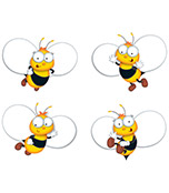 Buzz–Worthy Bees Cut-Outs Product Image
