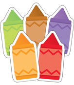 Crayons Mini Cut-Outs Product Image