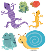 Frogs, Lizards & Snails Printable Cut-Outs Product Image