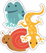 Frogs, Lizards & Snails Cut-Outs Product Image