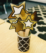Black and Gold Stars Cut-Outs Product Image