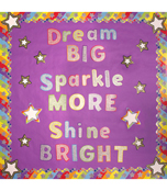Rainbow Glitter Stars Cut-Outs Product Image