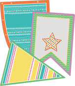 Up and Away Pennants Cut-Outs Product Image
