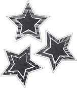 Chalkboard Stars Cut-Outs Product Image