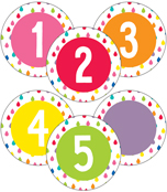 Hello Sunshine Student Numbers Mini Cut-Outs Product Image