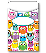 Colorful Owls Library Pockets Product Image