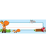 Playful Foxes Nameplates Product Image