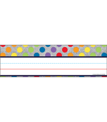 Rainbow Dots on Glitter Nameplates Product Image
