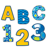 3 inch Bubbly Blues   EZ Letters Product Image