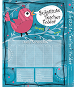Song Bird Substitute Teacher Folder Product Image
