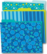 Bubbly Blues File Folders Product Image
