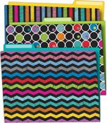 Colorful Chalkboard File Folders Product Image