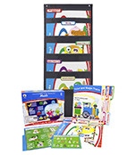 Math File Folder Game and Black Pocket Chart Classroom Kit Product Image