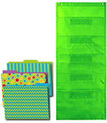 Fresh Sorbet File Folders and Lime Pocket Chart Organization Set Product Image