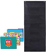 Colorful Owl File Folders and Black Pocket Chart Organization Set Product Image