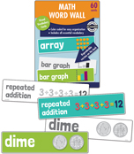 Math Word Wall Learning Cards Product Image