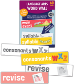 Language Arts Word Wall Learning Cards Product Image