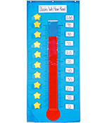 Thermometer/Goal Gauge Pocket Chart Product Image