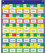 Classroom Management Blue and Yellow Pocket Chart Product Image