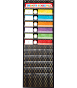 Deluxe Scheduling: Gold Polka Dot Pocket Chart Product Image