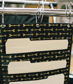 Storage: Gold Arrows Pocket Chart Product Image