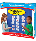 Numbers 0-30 Pocket Chart Cards Product Image