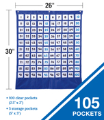 Deluxe Hundred Board Pocket Chart Product Image