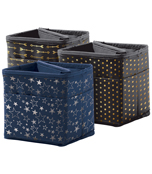 Tabletop Storage: Navy with Silver Stars Pocket Chart Storage Product Image