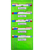 File Folder Storage: Lime Pocket Chart Product Image