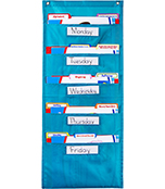 File Folder Storage: Teal Pocket Chart Product Image