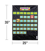Deluxe Calendar: Black Pocket Chart Product Image