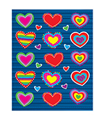 Hearts Shape Stickers Product Image