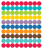 Color Me Bright Chart Seals Product Image