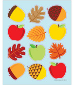 Apples, Acorns & Leaves Shape Stickers Product Image