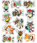 Hipster Shape Stickers Product Image