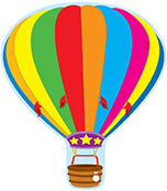 Hot Air Balloon Two-Sided Decoration Product Image