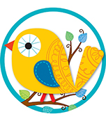 Boho Birds Two-Sided Decoration Product Image