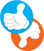 Thumbs Up/Thumbs Down Two-Sided Decoration Product Image
