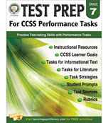 Test Prep for CCSS Performance Tasks Resource Book Product Image