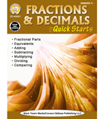 Fractions & Decimals Quick Starts Workbook Product Image
