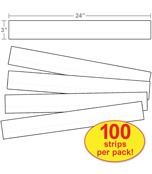 Lined White Sentence Strips Product Image